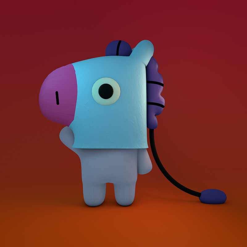 Download Wallpaper BT21 Mang Character Wallpaper