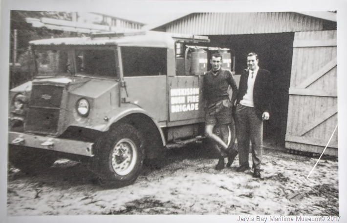 huskissons-first-mobile-fire-truch-outside-shed-owen-st-huskisson-1957---1959