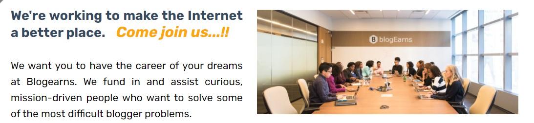 career at blogearns