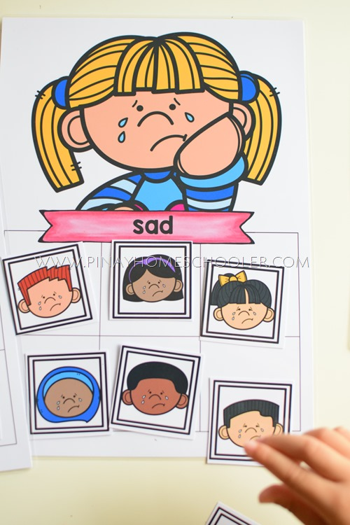KIDS EMOTIONS LEARNING ACTIVITY