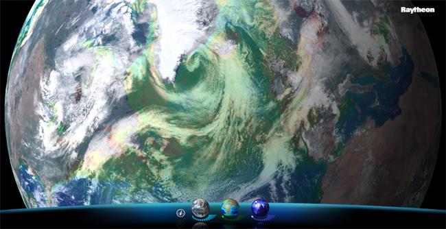 Viirs View Spinning Marble App Para El Sat 233 Lite Suomi Npp