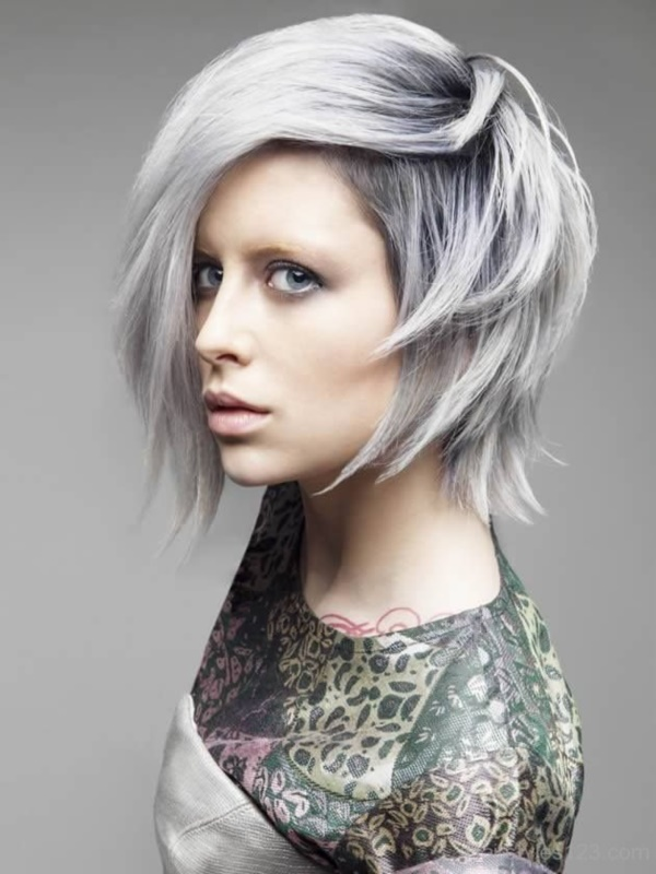 Top 20 Inspiring Grey Hair Styles For Women 2018 - Fashionre