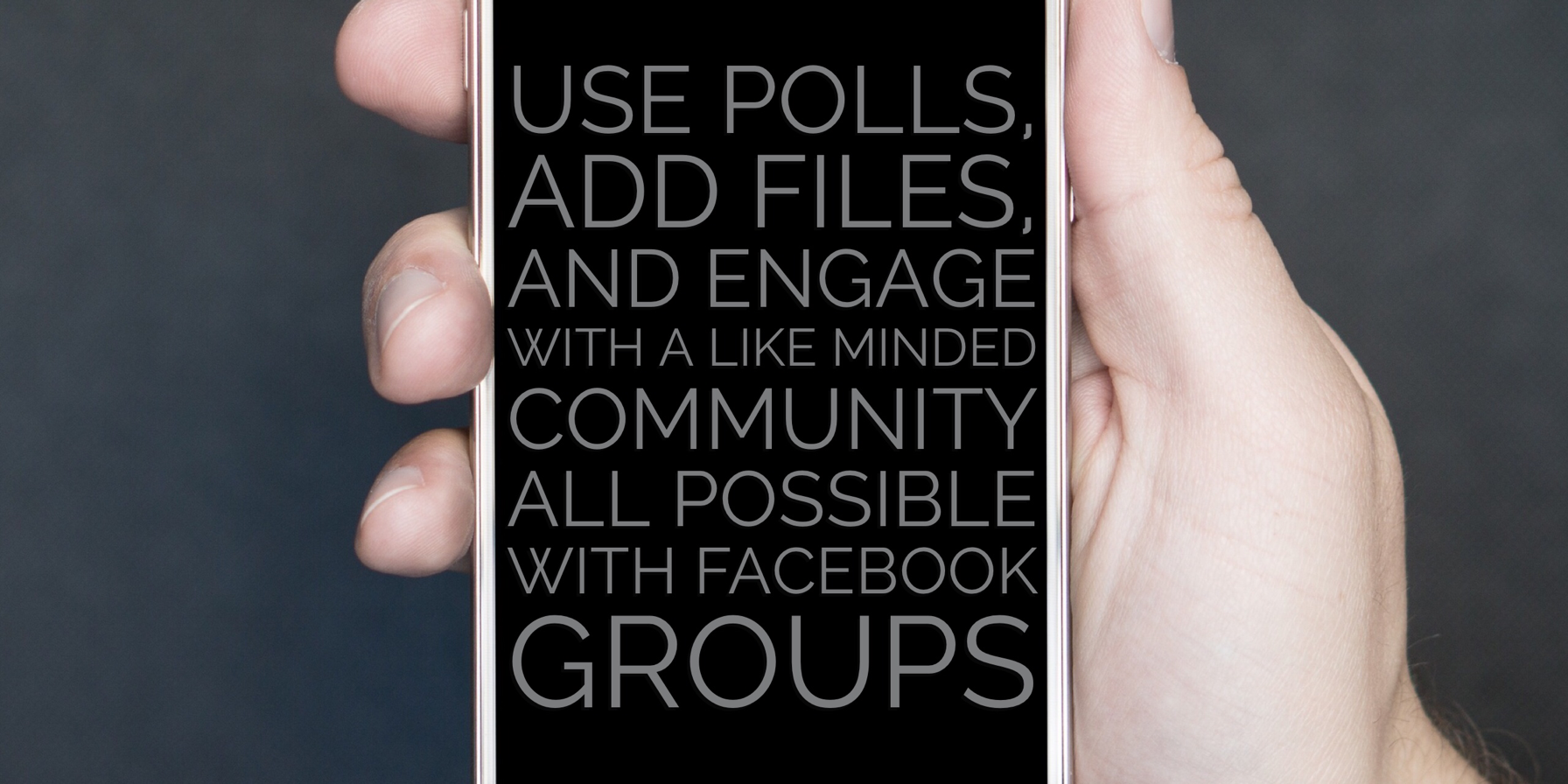 Facebook Groups community engagement