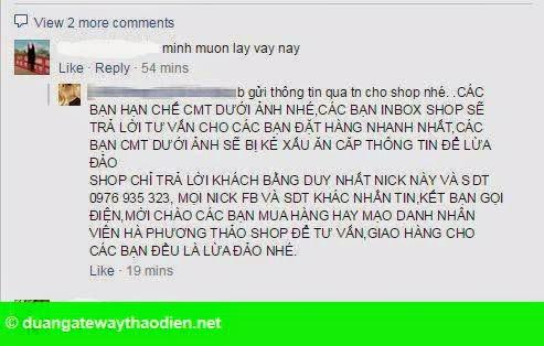 Hình 1: Chiêu cướp khách trên Facebook