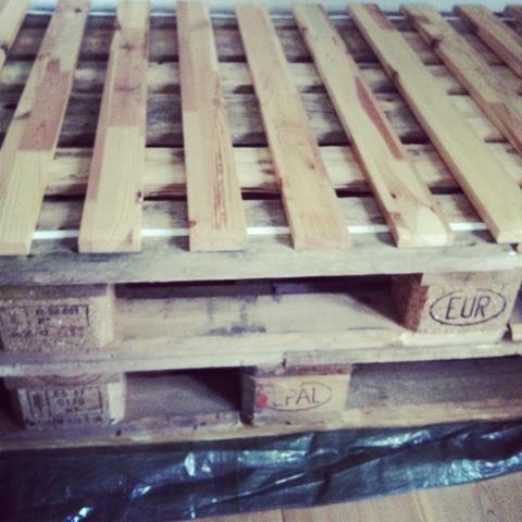 Sannepkunst: seng af paller