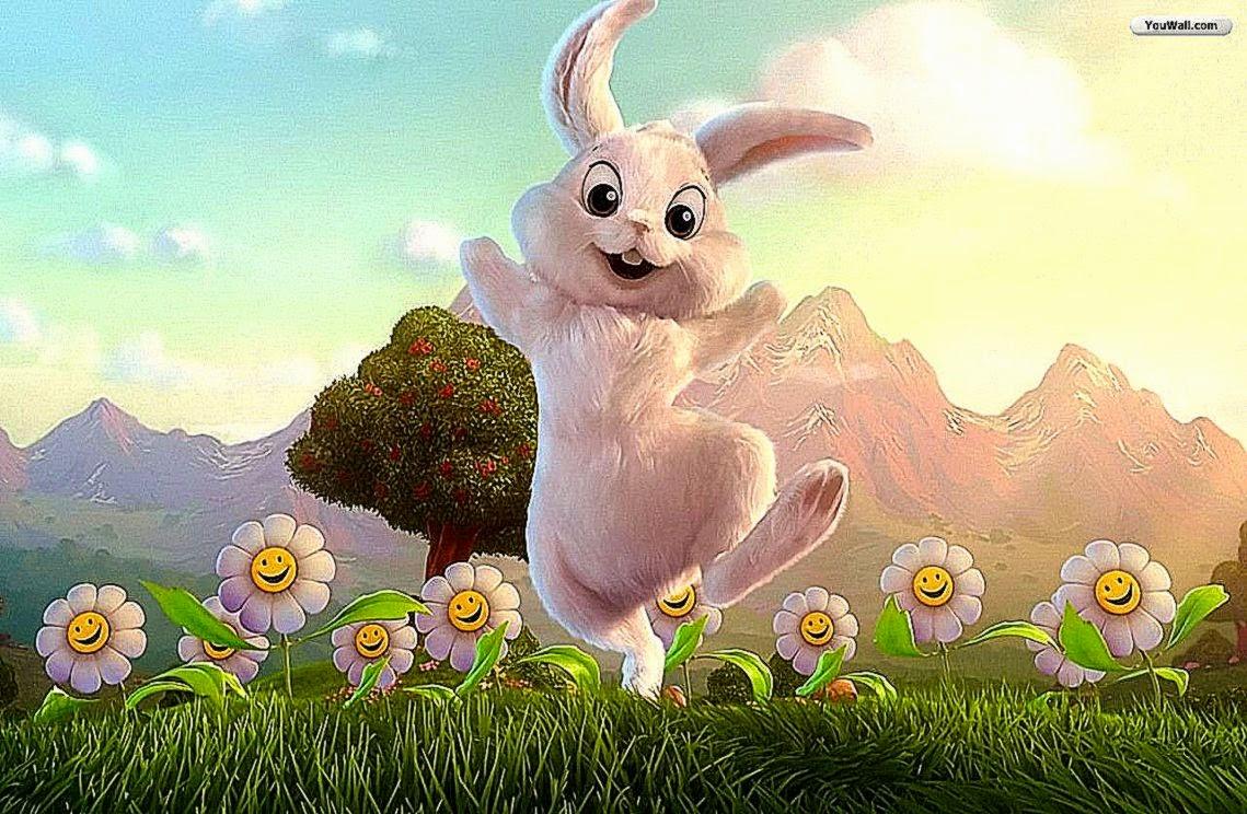 YouWall Happy Easter Bunny Wallpaper Wallpaperwallpapersfree