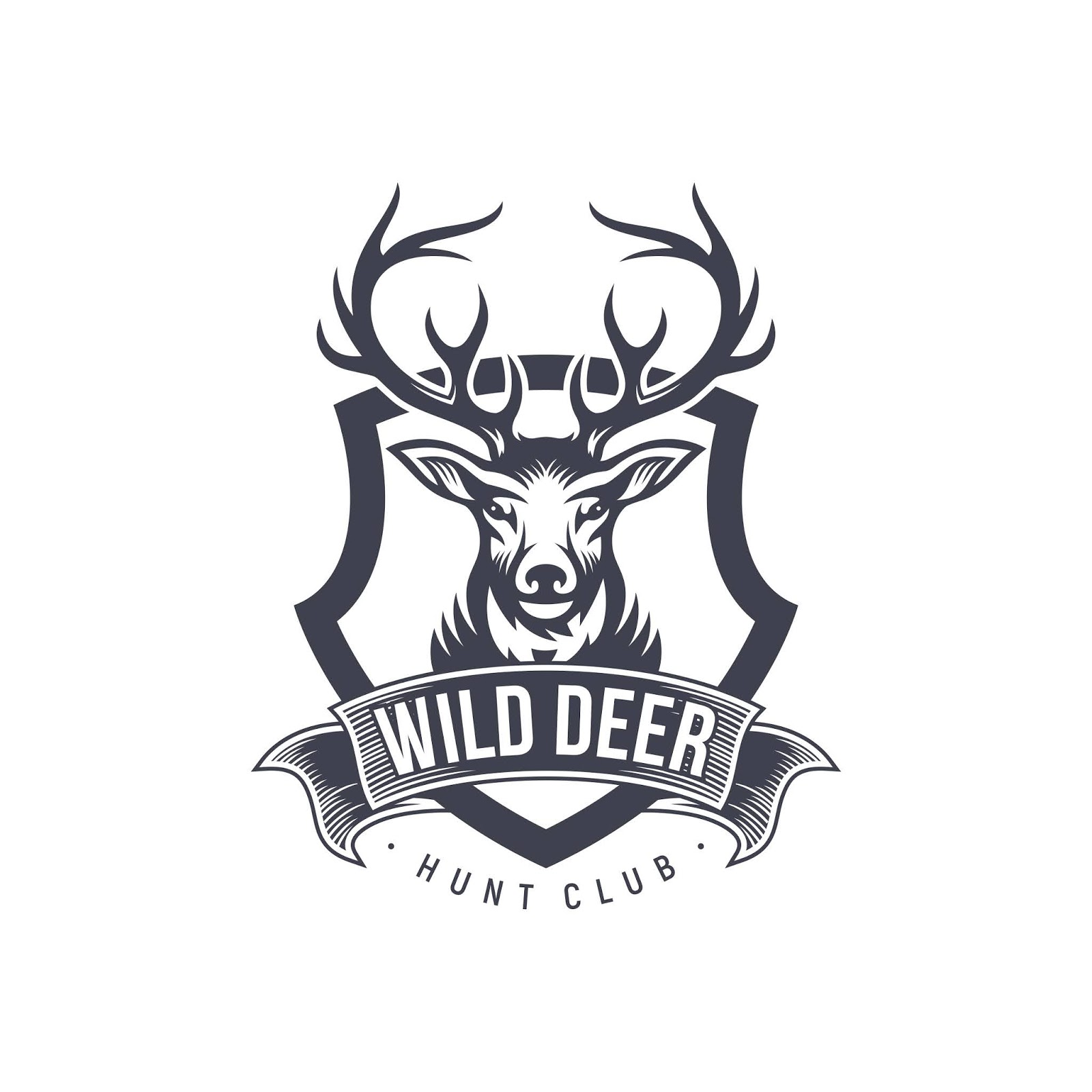 Vintage Deer Hunter Logo Design Free Download Vector CDR, AI, EPS and PNG Formats