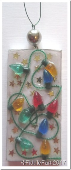 Domino Crafts Christmas Light Decoration Domino Tag