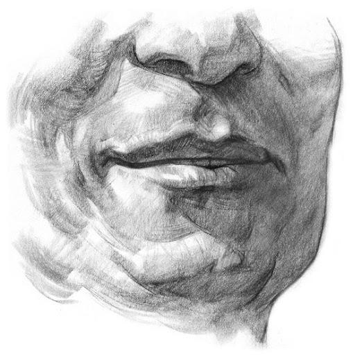 Draw lips step 5