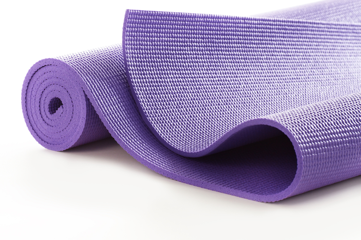A yoga mat makes a surprisingly simple bed for people who prefer to sleep on harder surfaces. It provides just the right amount of cushion and heat retention. Image from recyclenation.com.
