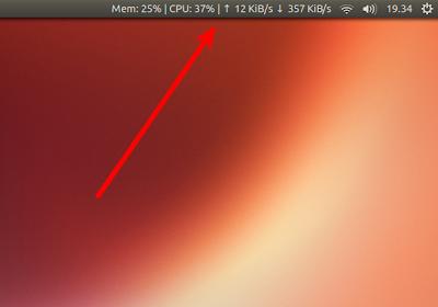 Indicator-Sysmonitor con dettagli sulla rete su Ubuntu 13.04 Raring