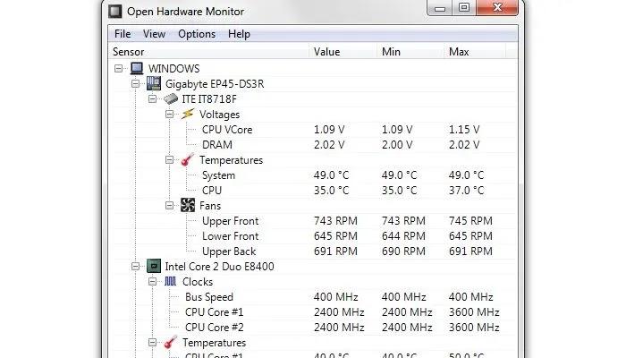 جهاز كمبيوتر Power Openhardwaremonitor