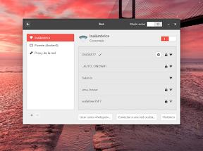 Configurar el hardware en GNOME. La red. WiFi.
