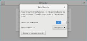 Como configurar GNOME con detalle. Configuración personal. Privacidad. Uso.
