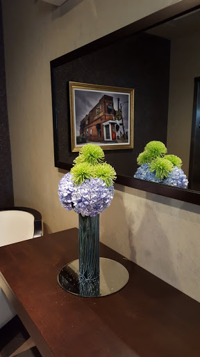 Lobby flowers at JAG Hotel. Where to stay in St John's, Newfoundland