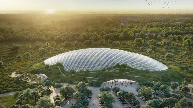 A maior estufa de cúpula única do mundo será inaugurada na França
