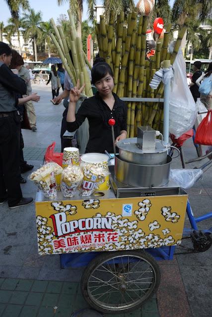 popcorn street vendor in Zhuhai, Guangdong
