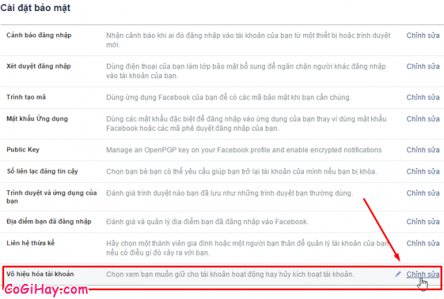 Bước 2: Vào phần khóa tài khoản Facebook - Hình 2