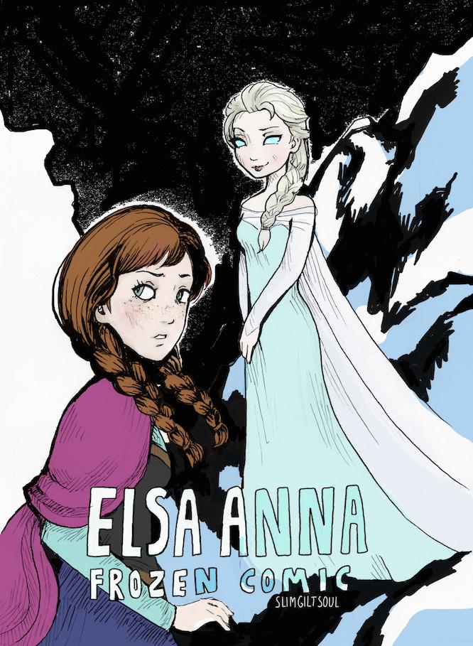 Elsa Anna Frozen comic