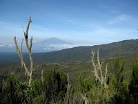 Kili Climb Day 2 - Mt Meru in the background