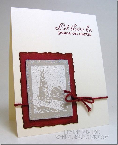 LeAnne Pugliese WeeInklings Bunny Christmas Peace on Earth