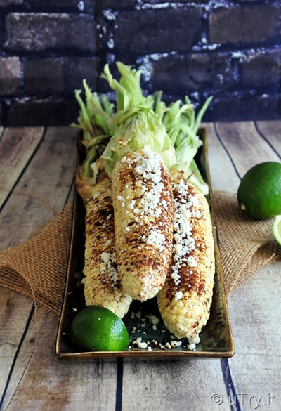 How to Make Chili Lime Grilled Corns - Elotes Asado (Maíz) con Chile y Limón   http://uTry.it
