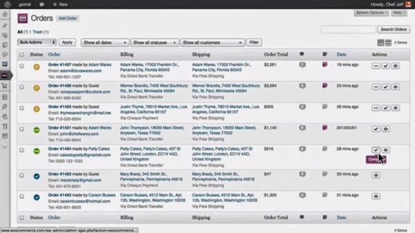 WordPress ShoppingCart Plugin: WooCommerce Order Management