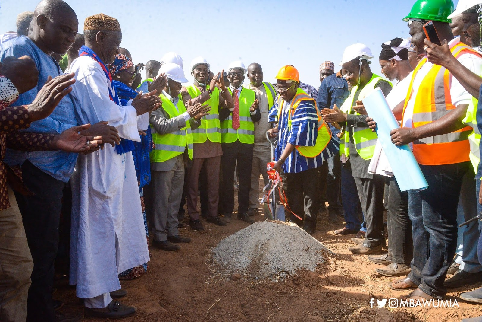One District,  One Factory; Vice Prez Dr. Bawumia again break grounds for the construction of an ultra-modern hospital for the West Mamprusi District at Walewale financed by Ghana National Petroleum Corporation (GNPC) - Richkid Empire Music