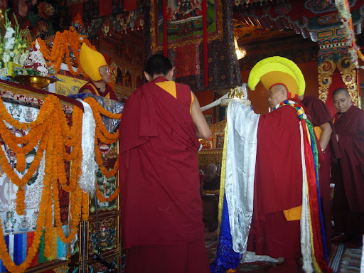 Long life puja at Kopan Monastery 2008.