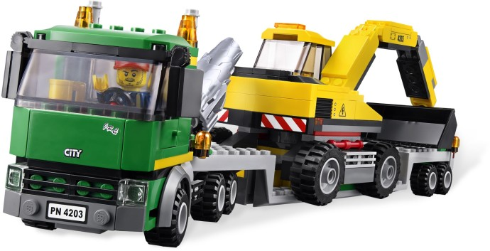 4203 レゴ パワーショベルとトレーラー