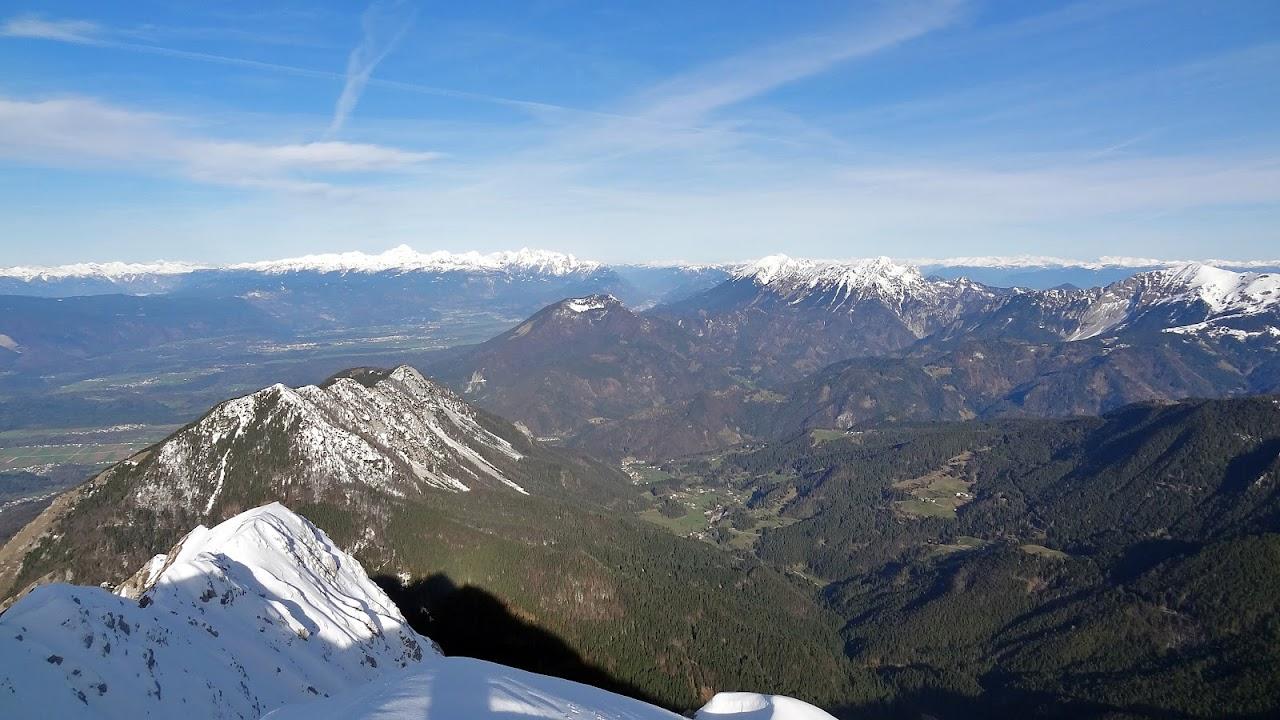 Pogled na sjever Kriške gore i potencijalna sletišta