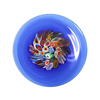 Franco Schiavon Signed Murano Glass Plate