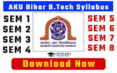bihar btech syllabus, ugeac syllabus, bihar engineering syllabus, bihar btech aku syllabus
