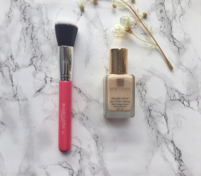 Blank Canvas F20 Foundation Brush and Estee Lauder Doublewear