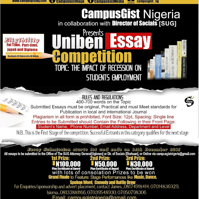 How to make money in Uniben as a writer.