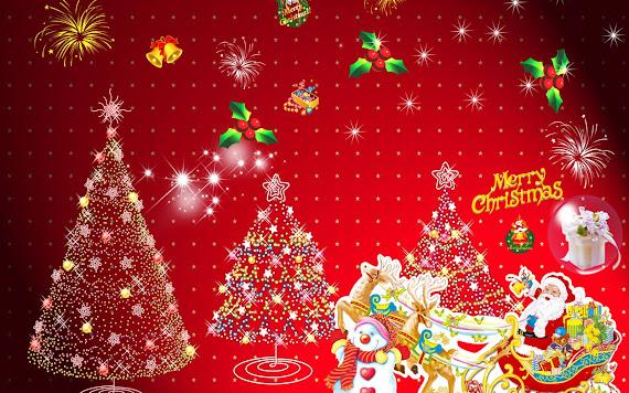 besplatne Božićne pozadine za desktop 1680x1050 free download čestitke blagdani Djed Mraz Merry Christmas