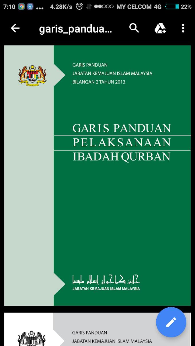 [Download] Garis Panduan Perlaksanaan Qurban JAKIM