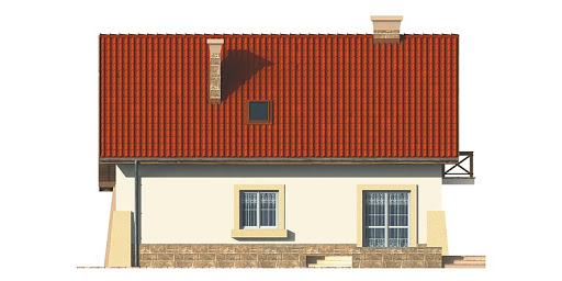 Dom przy Berberysowej - Elewacja tylna