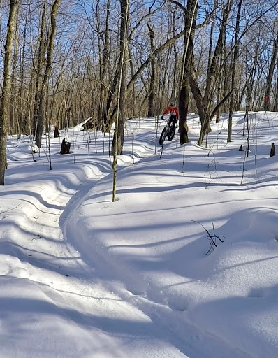 Twin Lakes singletrack. Great riding in the morning, February 17th, 2017. Planning to have open Saturday and Sunday 6am-10am. Closed from 10am on.  Subject to change if it doesn't freeze down. Call or email to confirm.