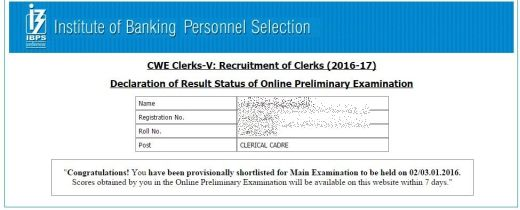 IBPS Clerk Prelims 2015 Results Announced,IBPS Clerk Prelims Exam 2015 Results OUT,IBPS Clerk Prelims 2015 Cutoffs