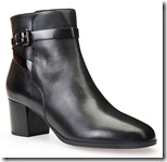 Geox black leather ankle boot