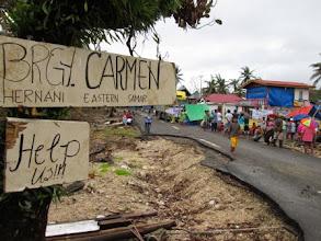 Photo: a sign in Brgy. Carmen, Hernani, Eastern Samar