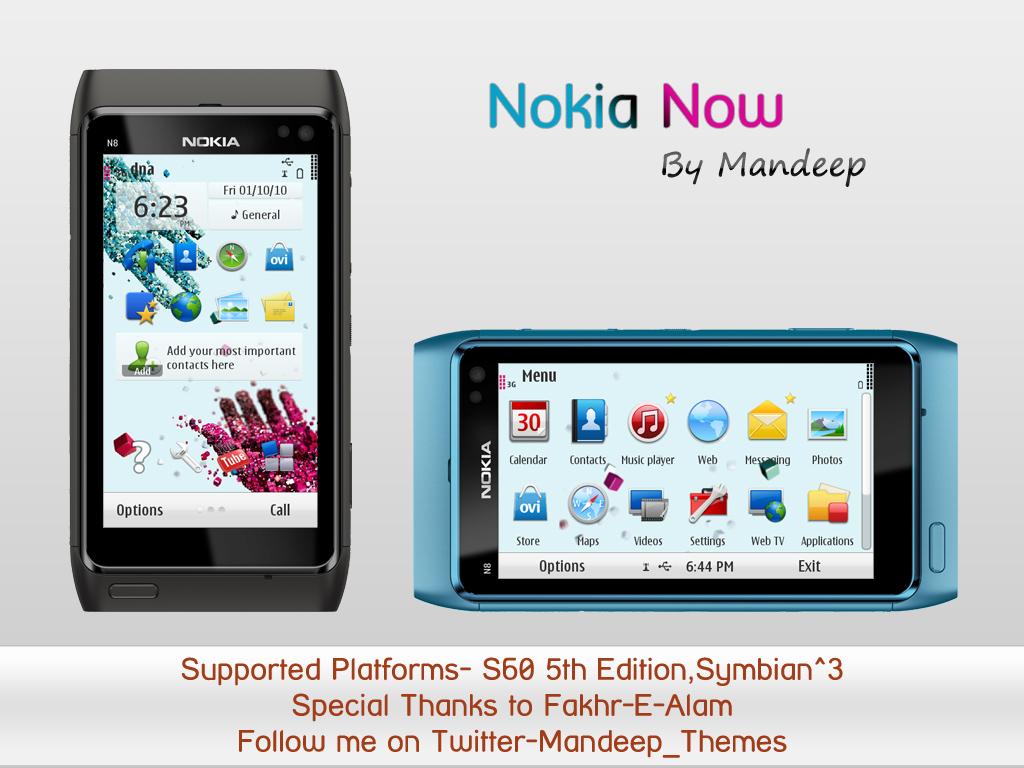 Nokia Now Theme by Mandeep ~ Nokia 5230 Blog