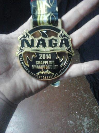 Matt's Gold medal. NAGA Sat 2014-06-14