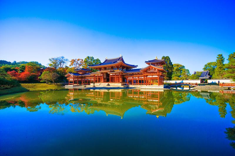 京都 紅葉 平等院鳳凰堂 写真3