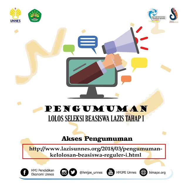 PENGUMUMAN BEASISWA BANK INDONESIA 2018