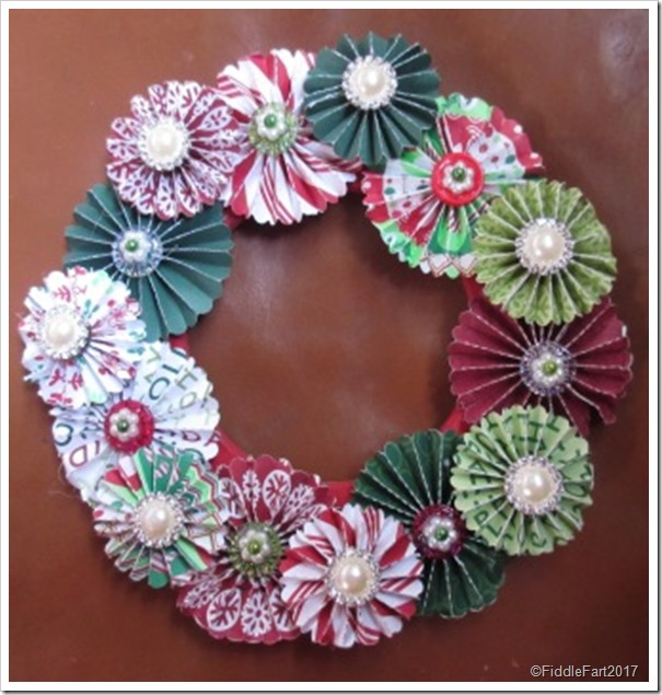 jewelled christmas rosette wreath