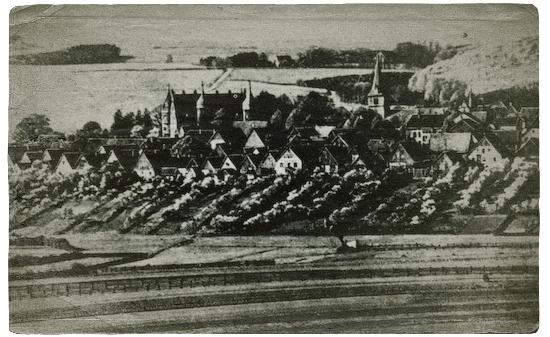 Gesamtansicht Barntrups um 1910