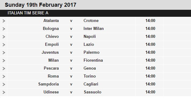 Serie%2BA%2Bschedule%2B25 Planning a Football Trip to Italy - SERIE A FIXTURES 2016/17