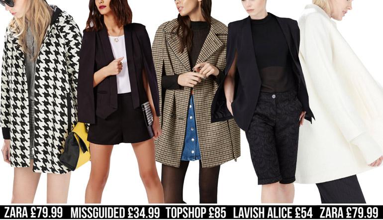 cape fashion high street winter coats